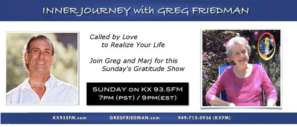 Gratitude Show Greg Friedman Marj Britt Dec 20 2015