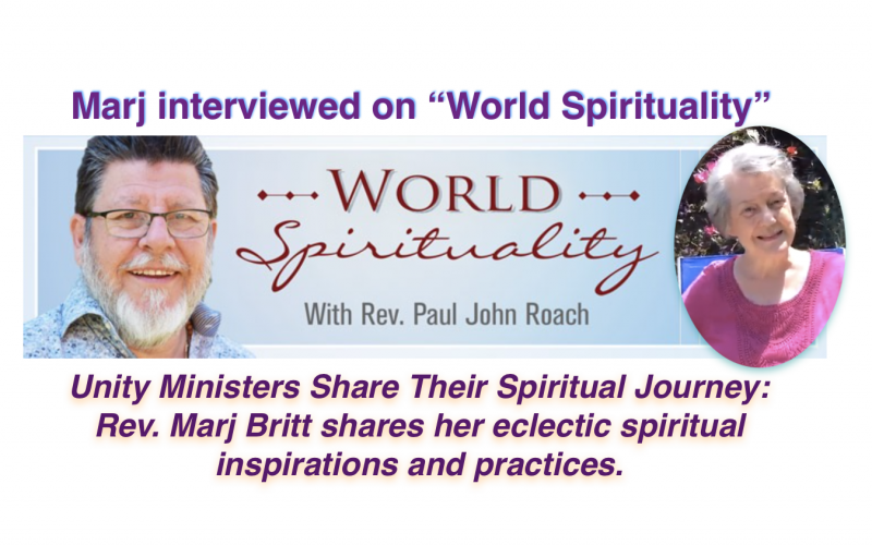 Marj Britt on World Spirituality Unity.FM